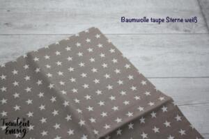 BAumwolle taupe sterne
