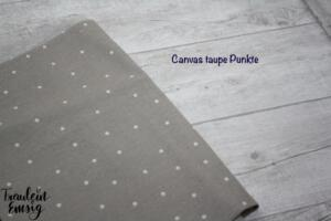 canvas taupe punkte