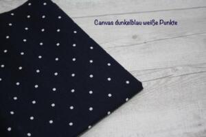 canvas dunkelblau punkte