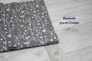Baumwolle grau zweige