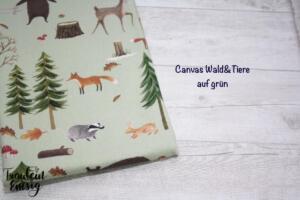 canvas waldtiere grün